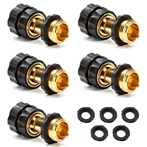 "3/4"" Garden Hose Quick Connector Value Pack,5 Female + 5 Male"