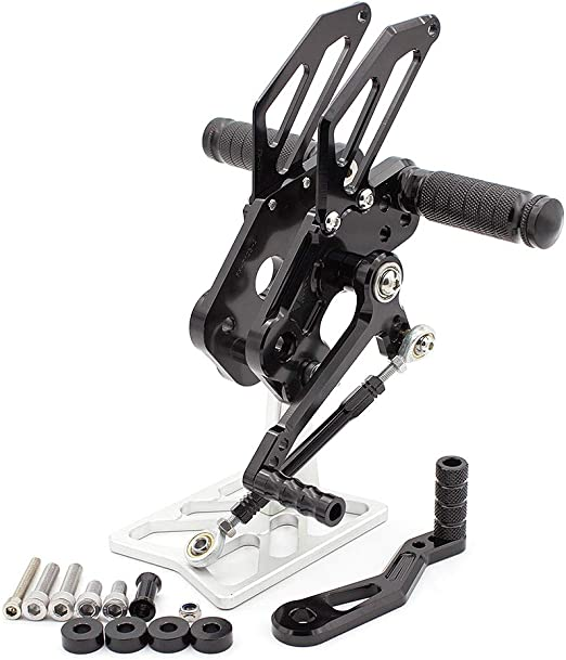 FXCNC Racing Billet Motorcycle Rearset Foot Pegs Rear Set Footrests Fully Adjustable Foot Boards Fit For Honda CBR500R CBR400R CB500F CB400F 2013 2014 2015 2016 2017 2018