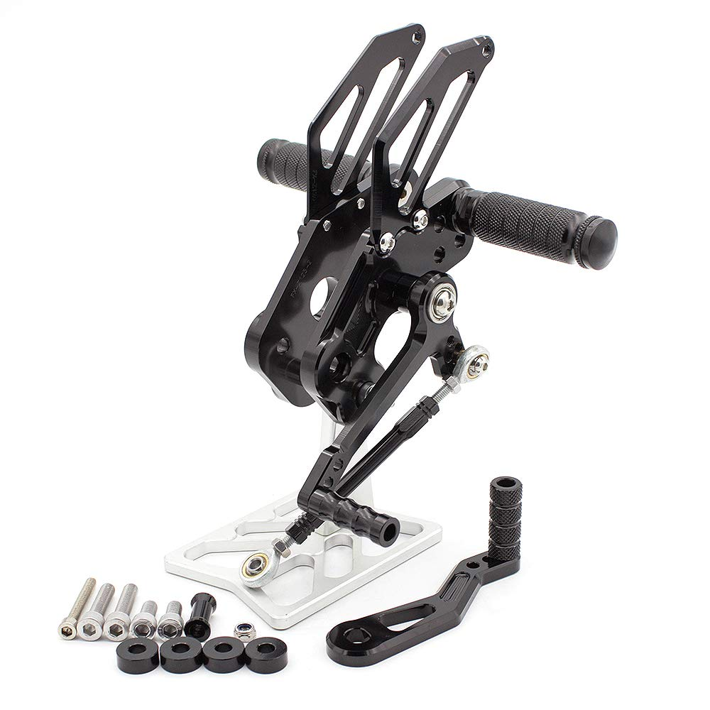 FXCNC Racing CNC Billet Motorcycle Adjustable Rearsets Foot Pegs Rear Set Fit For Kawasaki Z125 Pro 2016 2017 2018
