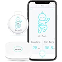 Sense-U Smart Baby Breathing Monitor 2 Monitors Infant Breathing Motion, Roll Over and Skin Temperature - Works Anywhere…