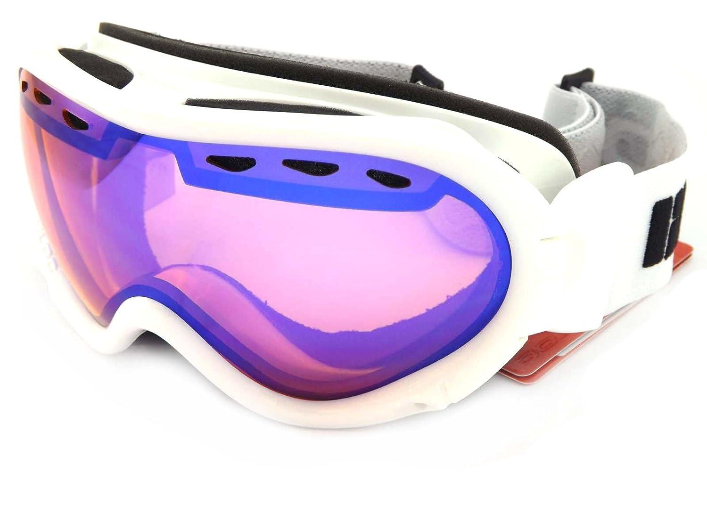 8c05f3e72d0f Bloc Spirit 3 OTG Over Glasses Ski Goggles Shiny White with Blue Mirror Lens  STW25  Amazon.co.uk  Sports   Outdoors