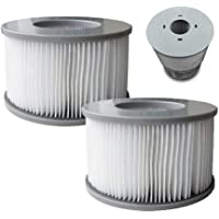 MSPA 2 x Vervangende Filter Cartridges Hot Tubs Accessoires 90 Plooien Fit modellen, Wit, One Size
