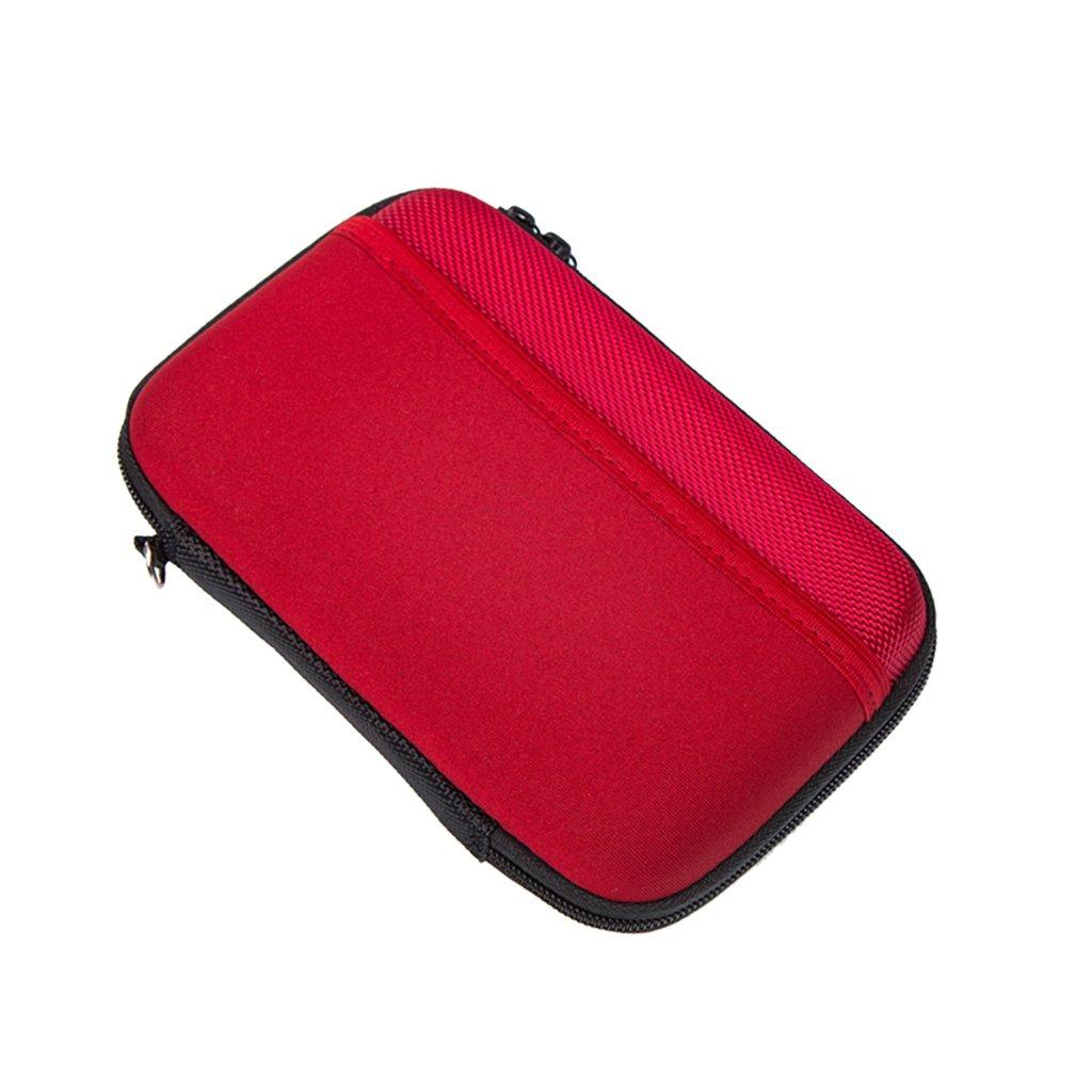 Baoblaze 2Pcs Shockproof EVA Carrying Travel Case Bag for 2.5 Inch Portable External hard drive, U Disk, USB Flash Drive, SD Memory Card/GPS Camera/Power Banks,Black+Red