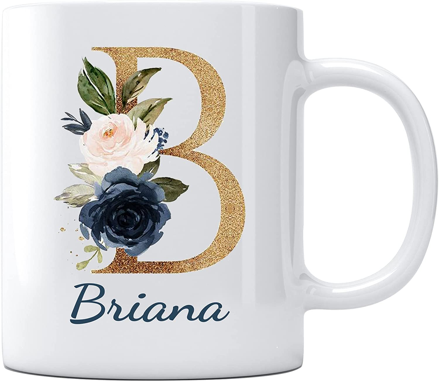 Mother's Day 2021 Cup with Name Briana Unique Mothers Day Gifts for Friend Sisters Moving Away Graduation University College Gifts for Her Coffee Cup 11oz White