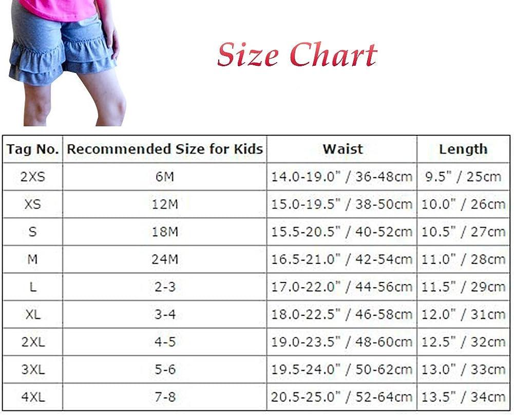 Little Girl Double Icing Ruffle Cotton Shorts Boutique Pants Bike Sport Slacks Activewear Playwear