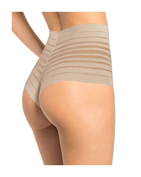 6d6e9c1702670 Image Unavailable. Image not available for. Color  Leonisa Women s Sexy High  Waist Rear Enhancing Thong Panty