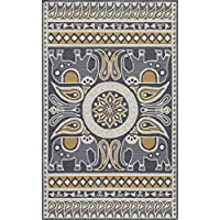 Momeni Rugs VERANVR-53GLD2030 Veranda Collection Contemporary Indoor & Outdoor Area Rug, 2 x 3, Gold