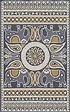 Momeni Rugs VERANVR-53GLD2030 Veranda Collection Contemporary Indoor & Outdoor Area Rug, 2′ x 3′, Gold