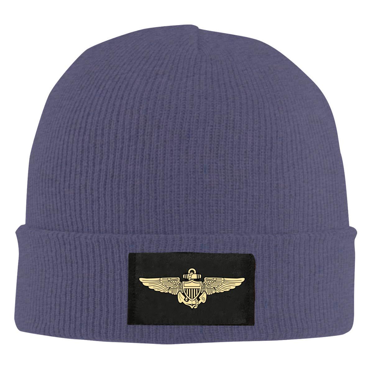 Naval Aviator Pilot Wings Unisex Warm Winter Hat Knit Beanie Skull Cap Cuff Beanie Hat Winter Hats