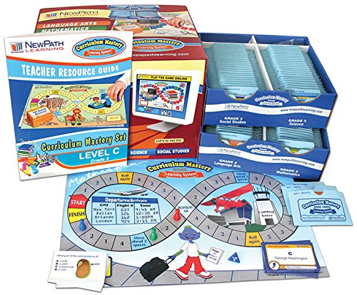 NewPath Learning 4 Piece Curriculum Mastery (ELA, Math & Science) Game Set, Grade 3, Class-Pack