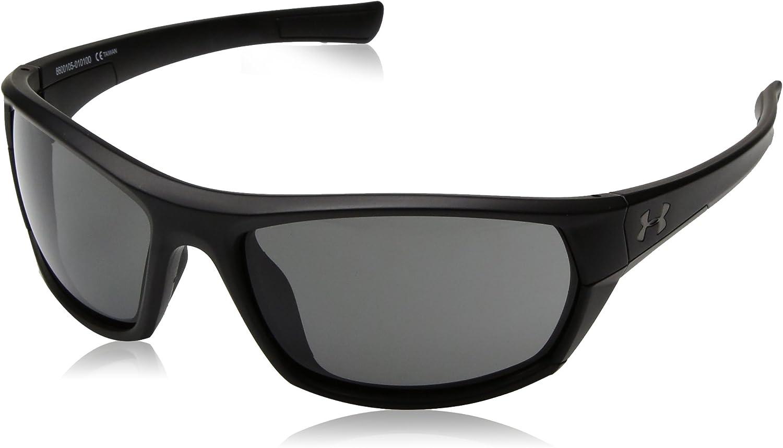 Under Armour unisex-adult Powerbrake Wrap Sunglasses Rectangular Sunglasses