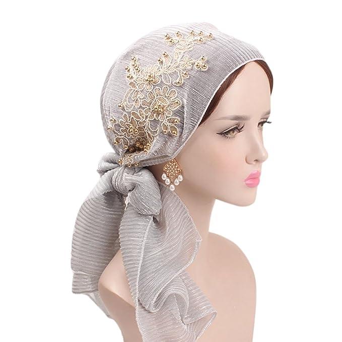 Là Vestmon Turbante Chemioterapia Donna Elegante Estivo Bandana Hijab  Scarfs per Chemio cdddf10638ab