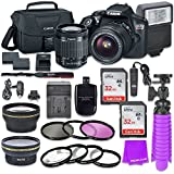 Canon EOS Rebel T6 DSLR Camera Bundle with Canon EF-S 18-55mm f/3.5-5.6 IS II Lens + 2pc Sandisk 32gb Memory + Canon Camera Bag + Spare Canon Original Battery + Value Accessory Kit