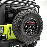 Restyling Factory 07-17 Jeep JK Wrangler Smoke 3rd Brake LED light w/Rear Spare Tire Bracket Mount (Black/Smoke)