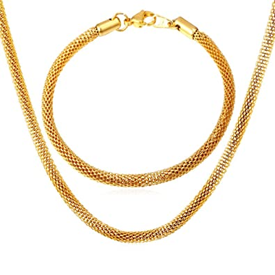 Amazon.com: u7 joyas unisex de acero inoxidable Pulsera de ...