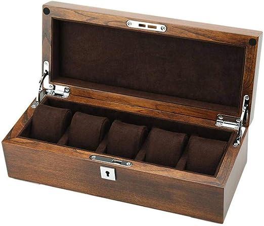 GOVD Caja Guardar Relojes Madera Estuche de Relojes con Almohadillas Extraíbles, para Relojes B: Amazon.es: Hogar