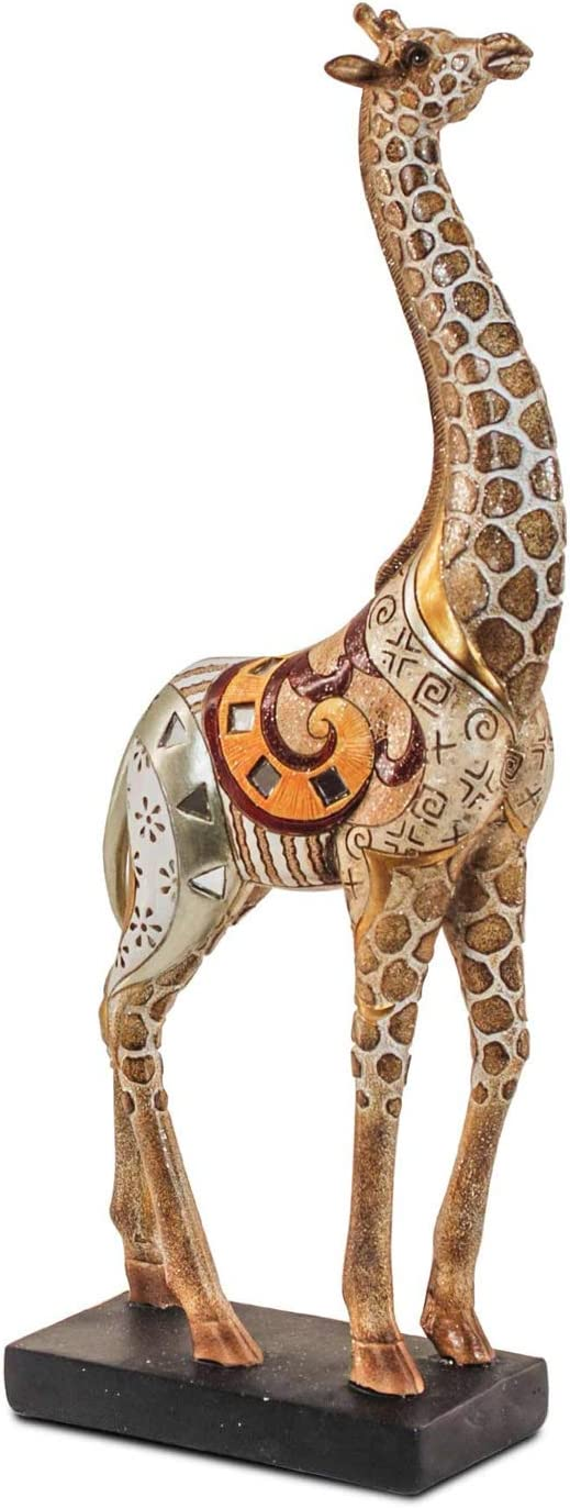 La Girafe Mod 2 happyDko Statuette R/ésine H 34 cm Collection Ethnik