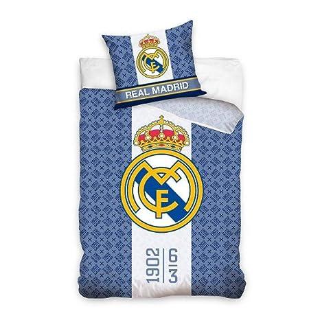 Funda Nordica Real Madrid Cama 90.Real Madrid Rm162011 Juego Funda Nordica Reversible 160 X 200 Cm Para Cama De 90 X 200 Cm Y Funda Cojin 70 X 80 Cm Rm162011