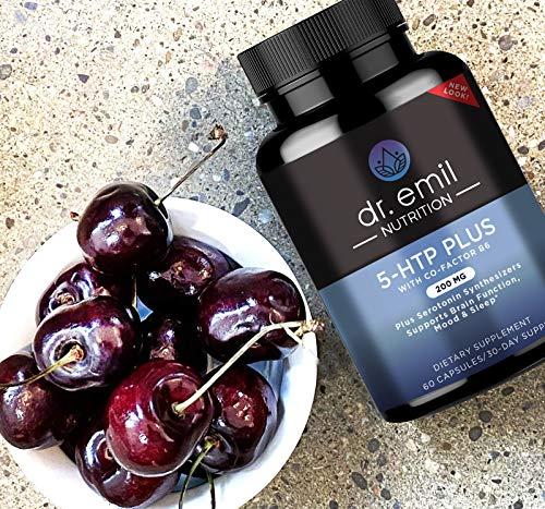Dr. Emil Nutrition 200 MG 5-HTP Plus Cofactor B6 Vegan Formula for Mood and Sleep, 30 Day Supply