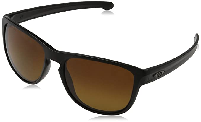 31343e0101 Amazon.com  Oakley Sliver R Sunglasses Matte Black Brown  Clothing