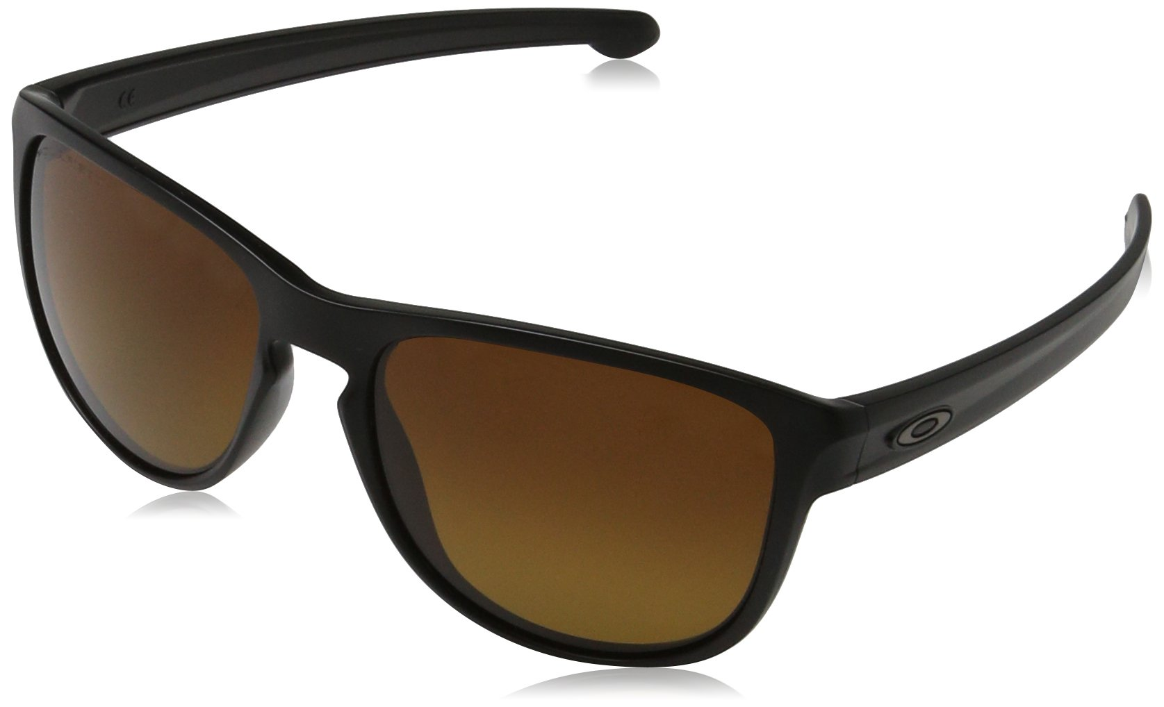 Oakley Men's Sliver R Rectangular Sunglasses, Matte Black w/Grey, 57 mm