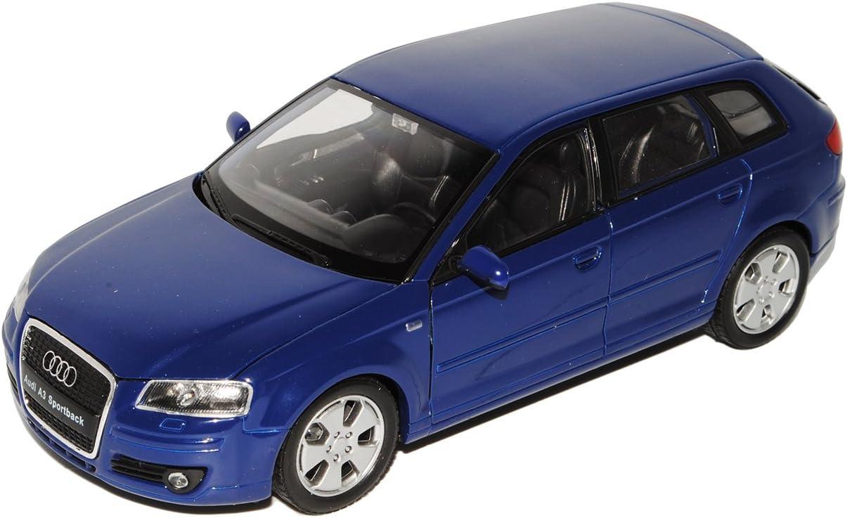 Welly A U D I A3 8p Sportback 5 Türer Blau 2003 2013 1 24 Modell Auto Mit Individiuellem Wunschkennzeichen Spielzeug