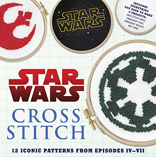 Star Wars: Cross Stitch Kit: 12 Patterns from Movie Episodes IV-VII Geek Craft Book