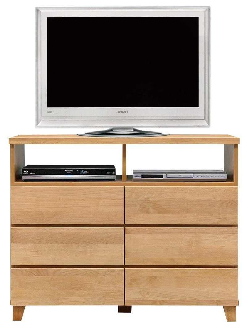 国産 テレビ台 ハイタイプ テレビボード リビングチェスト 寝室用 ダイニング用 幅105 パッソ B07S48GP9S