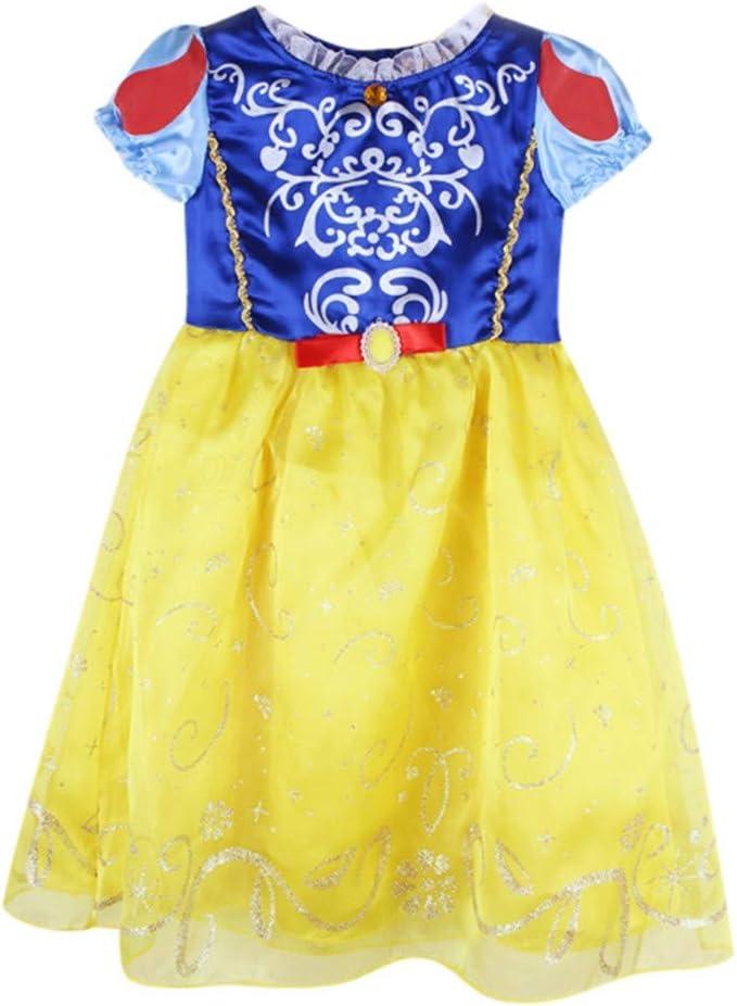 Luckycat Vestidos Niñas Verano, Blancanieves Disfraz con Capa ...