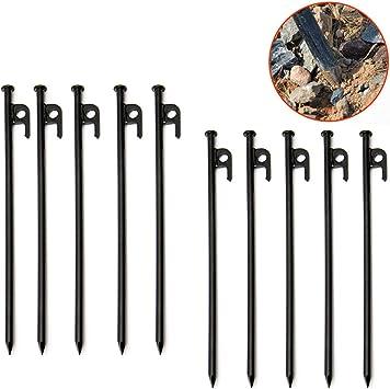 4/piquetas de tienda 21/cm x 7/mm CAMPING Metal para suelos duros
