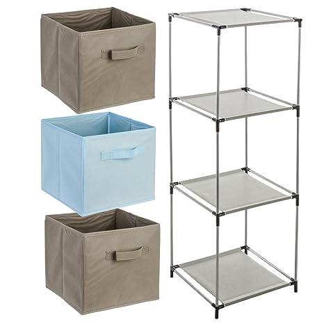 Atmosphera Conjunto de 4 Piezas de mobiliario Infantil: 1 Mueble de Almacenamiento estantería cajero +
