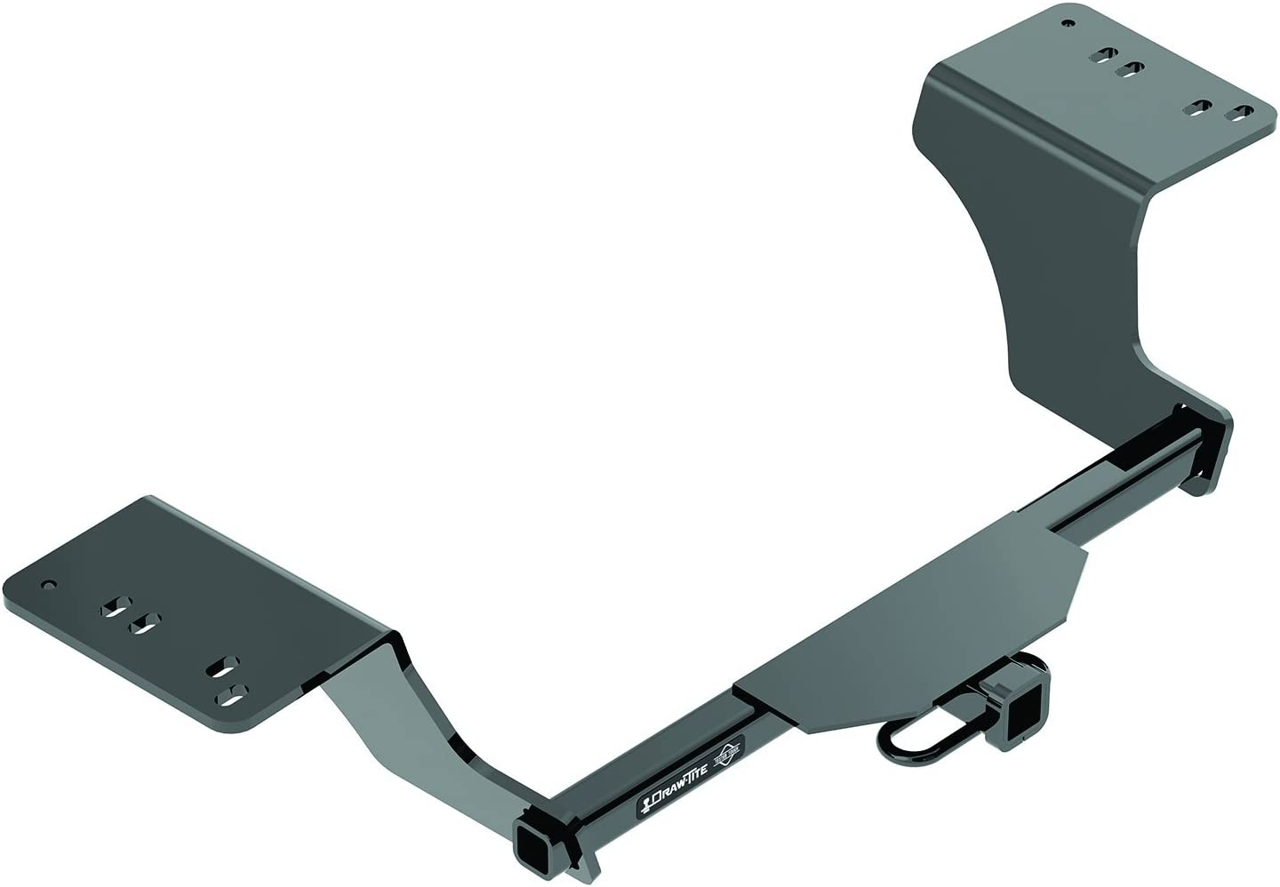 1 Pack Draw-Tite 76128 Class III Round Tube Max-Frame Hitch with 2 Receiver Opening