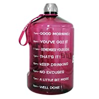 BuildLife 1 Gallon Water Bottle Motivational Fitness Workout with Time Marker/Drink...