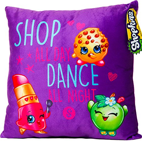 Shopkins Pillow: Lippy Lips, Kooky Cookie, Apple Blossom - Shop All Day Dance All Night by Shopkins