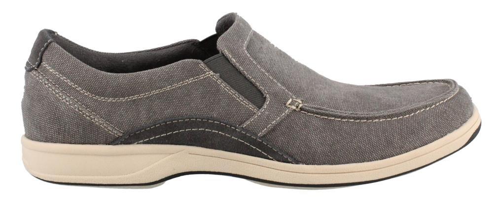 Florsheim Men's Lakeside Moc Toe Slip-On Shoe, Gray, 11 M US