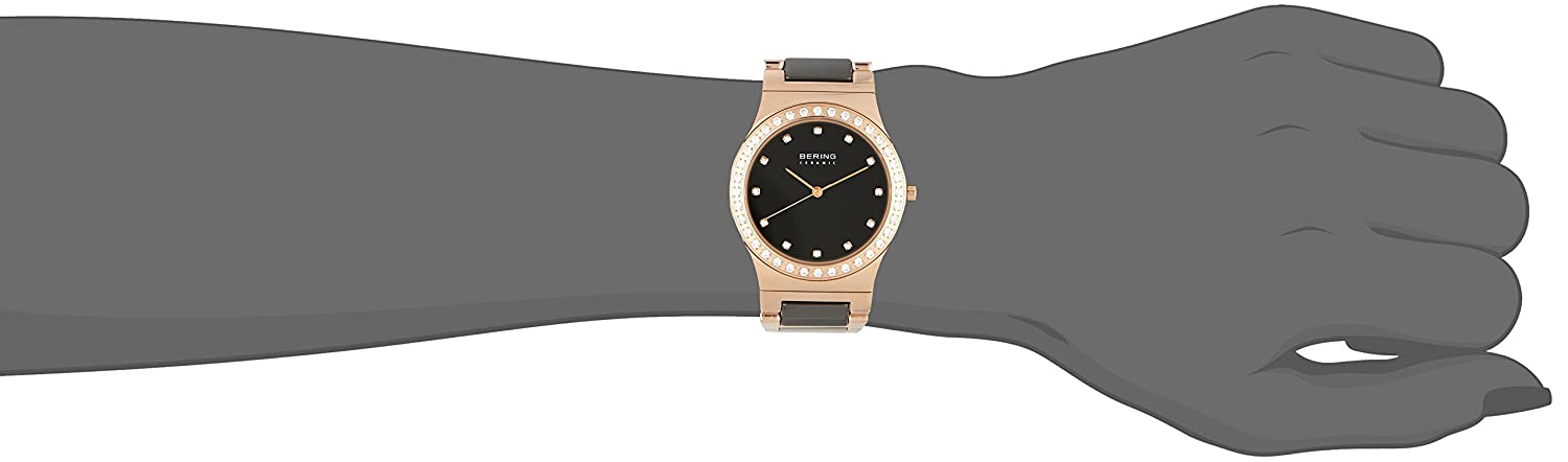 Amazon.com: BERING Time 32435-746 Womens Ceramic Collection Watch with Stainless Steel Band and Scratch Resistant Sapphire Crystal. Designed in Denmark.