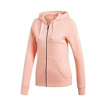 Adidas ESS Solid FZ HD Chaqueta, Mujer, Naranja/Blanco (Haze Coral s17), XS amazon el-rosa Deportivo