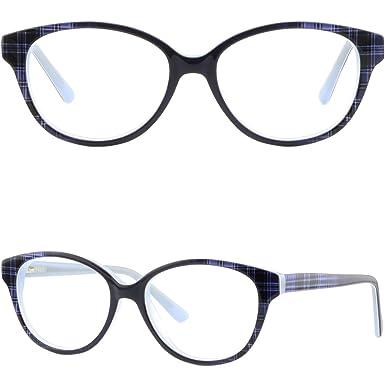 4d9b6b8c515 Image Unavailable. Image not available for. Color  Full Rim Women s Plastic  Frames RX Prescription Glasses Spring ...