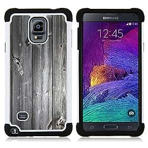 """Hypernova Híbrido Heavy Duty armadura cubierta silicona prueba golpes Funda caso resistente Para Samsung Galaxy Note 4 IV / SM-N910 [Textura de madera Vintage Retro""""]"""