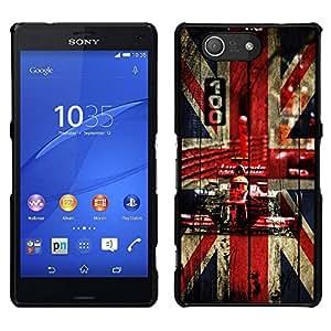 // PHONE CASE GIFT // Duro Estuche protector PC Cáscara Plástico Carcasa Funda Hard Protective Case for Sony Xperia Z3 Compact / Uk British F1 Formula /