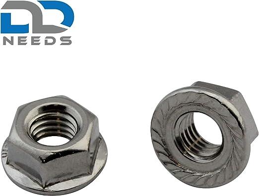 Acciaio inox A2 V2A 4 pezzi Dadi esagonali DIN 934//ISO 4032