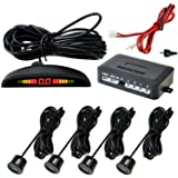 AutoStark Reverse Car Parking Sensor Led Display Black for All Car (Universal Type Easy Installation)