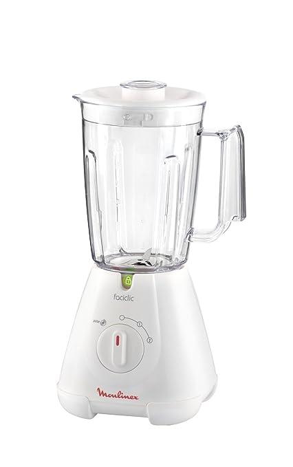 Moulinex Faciclic - Batidora de vaso, 400 W, 2 velocidades, jarra plastico 1