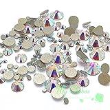 #5: Swarovski 2058/2088 Crystal Nail Art Mixed Flatbacks Rhinestones, Crystal AB (001 AB)