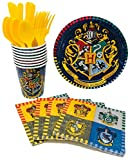 Harry Potter Birthday Party Supplies Snack Pack for 8 Guests Including Dessert Plates, Beverage Napkins, Cups and Cutlery