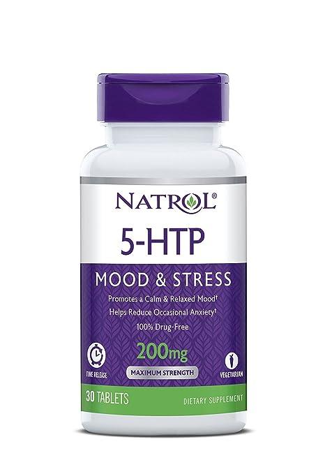 Natrol 5-HTP Timed Release 200 mg – Paquete de 30 tabletas