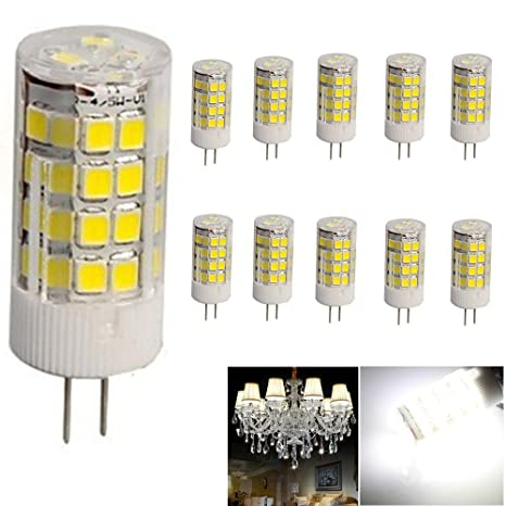 10 Pack G4 5w Led Light Bulb Cool White 6000 6500k 380lm 51 Smd 2835 Bi Pin Light Lamp 360 Degrees Beam Angle Energy Saving Ac Dc 12v Not Dimmable
