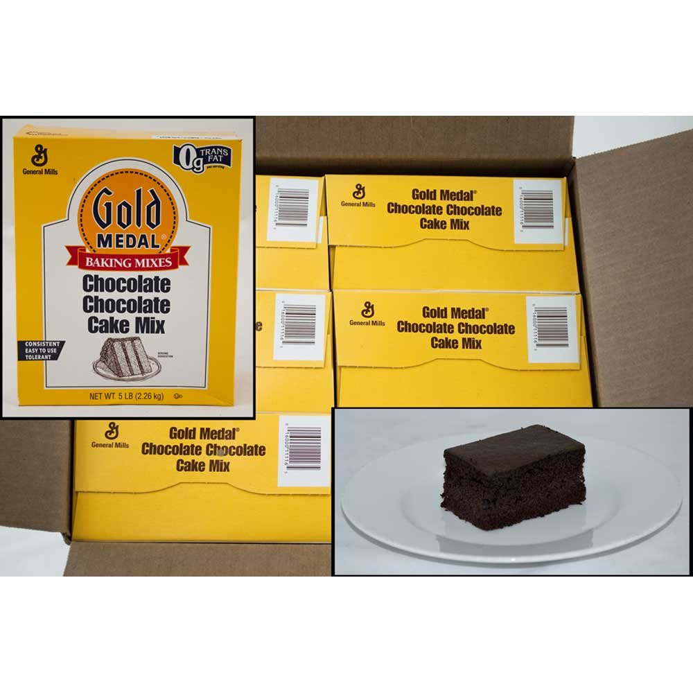 Gold Medal Chocolate Chocolate Cake Mixes 6 Case 5 Pound