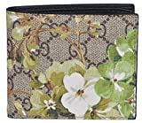 Gucci Men's GG Supreme Coated Canvas Bifold Wallet (Blooms)