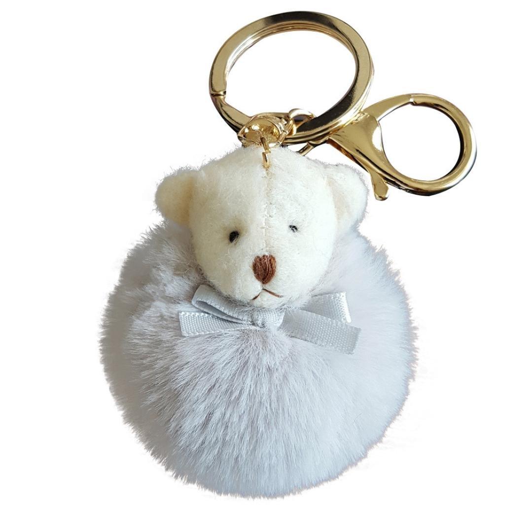 rambly oso peluche bolsa de piel de conejo llavero coche ...